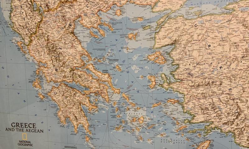Landkarte von Griechenland