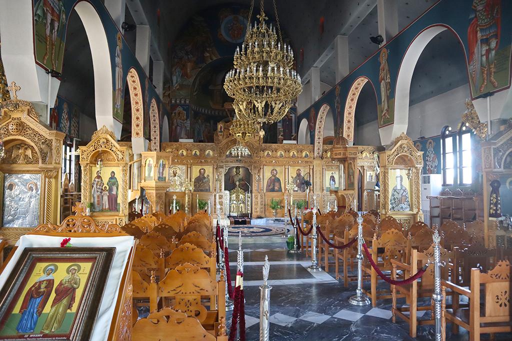 Innenansicht der Kirche der Agia Paraskevi.