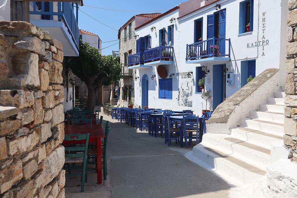 Tavernen in Alonnisos.