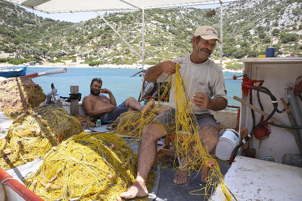 Fischer im Hafen von Gerakas auf Alonnisos