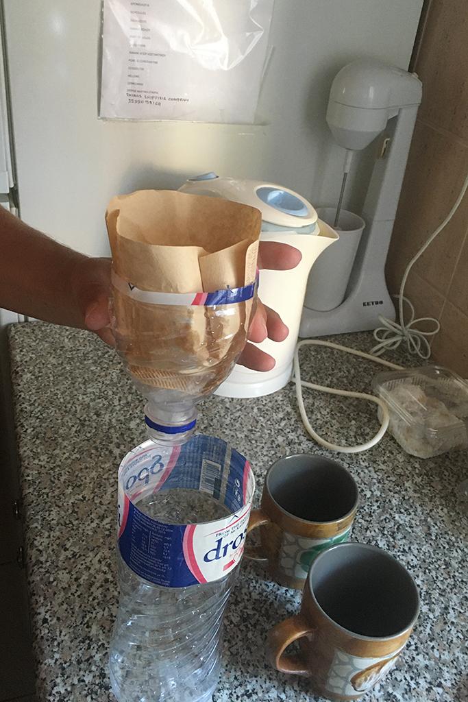 Kaffeefilterhalter selbstgebaut