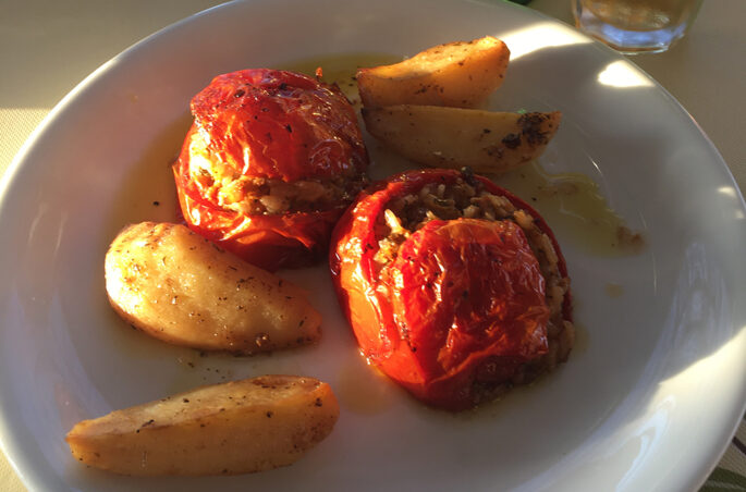 Gemista - gefüllte Tomaten